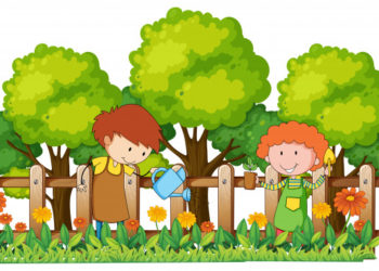 happy-children-watering-plants-in-garden_1308-6284